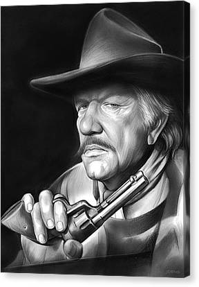 Richard Boone Canvas Print by Greg Joens
