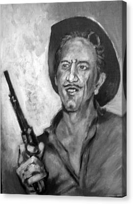 Richard  Boone Canvas Print by Paul Weerasekera