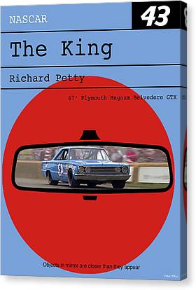 Richard Petty, The King, Plymouth Magnum Belvedere, Minimalist Poster Canvas Print by Thomas Pollart