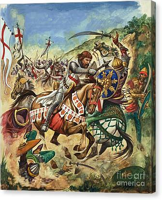 Richard The Lionheart During The Crusades Canvas Print
