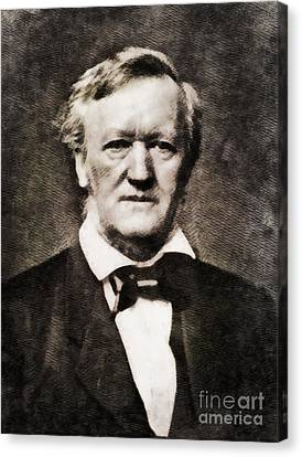 Richard Wagner, Composer By John Springfield Canvas Print by John Springfield
