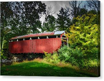 Richards Covered Bridge Canvas Print by Marvin Spates