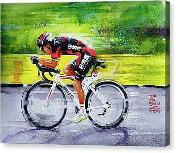 Richie Porte Canvas Print by Shirley Peters