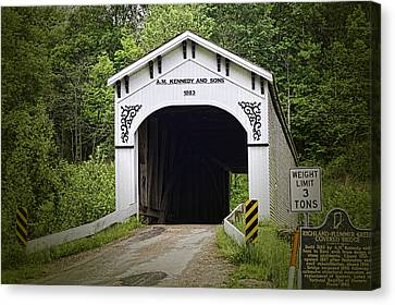 Richland Plummer Creek Covered Bridge Canvas Print by Phyllis Taylor