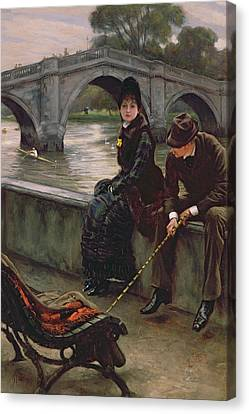 Richmond Bridge Canvas Print by James Jacques Joseph Tissot