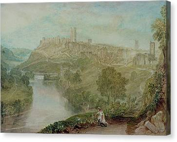 Richmond In Yorkshire Canvas Print by Joseph Mallord William Turner