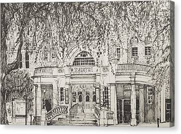 Richmond Theatre London Canvas Print by Vincent Alexander Booth