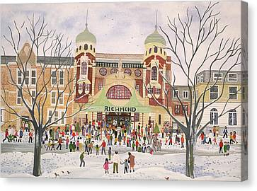 Richmond Theatre   Surrey Canvas Print by Judy Joel