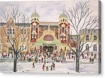 Richmond Theatre   Surrey Canvas Print by Judy Joel