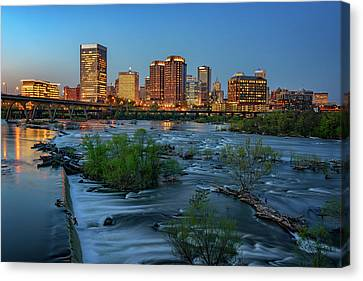 Richmond Twilight Canvas Print by Rick Berk
