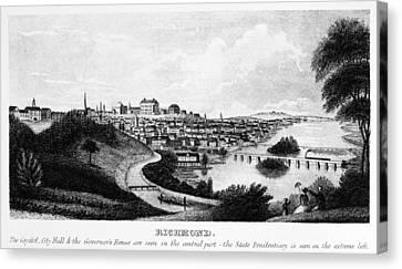 Richmond, Virginia, 1856 Canvas Print by Granger