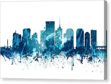 Richmond Virginia Skyline 20 Canvas Print by Aged Pixel