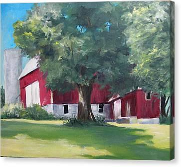 Rich's Barn Canvas Print by Carol Hart