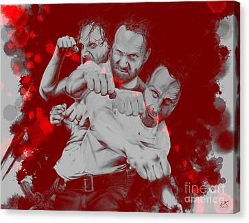 Rick Grimes Canvas Print by David Kraig
