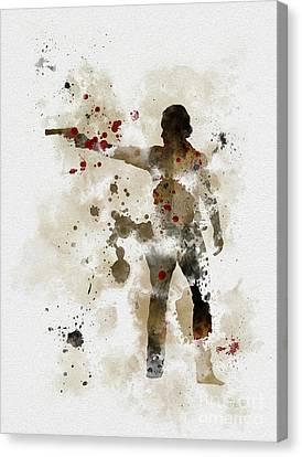 Rick Grimes  Canvas Print by Rebecca Jenkins
