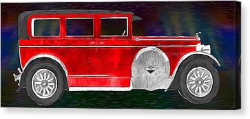 Rickenbacker 1920s Automobile Canvas Print by John Haldane