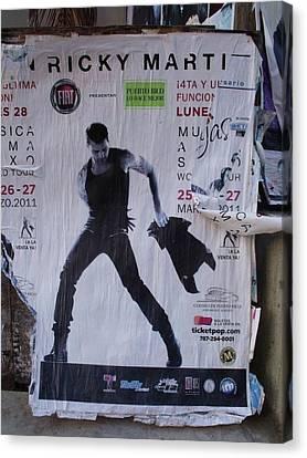 Ricky Martin In Concert Canvas Print by Anna Villarreal Garbis