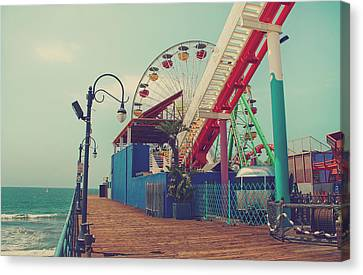 Roller Coaster Canvas Print - Ride It Out by Laurie Search