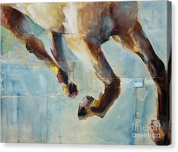 Abstract Equine Canvas Print - Ride Like You Stole It by Frances Marino