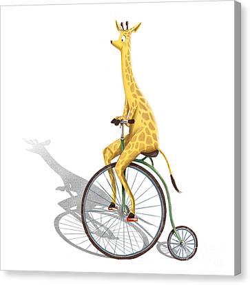Ipad Design Canvas Print - Ride My Bike by Michael Ciccotello
