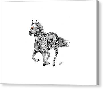 Ride On Canvas Print by Helen Windsor