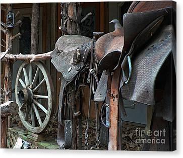 Ride The Rail Canvas Print