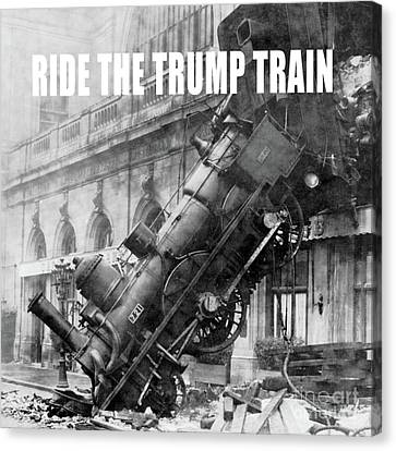 Ride The Trump Train Canvas Print by Edward Fielding