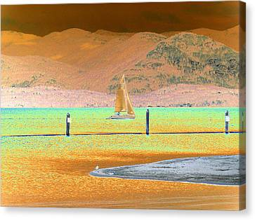 Ride The Wind Canvas Print by Peter  McIntosh