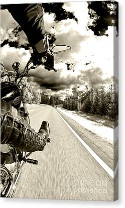 Motors Canvas Print - Ride To Live by Micah May