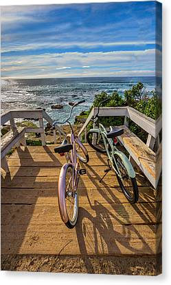 Beach Cruiser Canvas Print - Ride With Me To The Beach by Peter Tellone