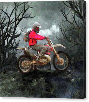 Rider Canvas Print by Til Williams