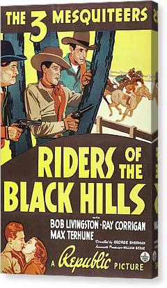 Riders Of The Black Hills 1938 Canvas Print