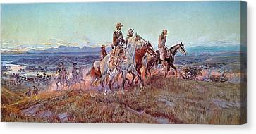 Riders Of The Open Range Canvas Print