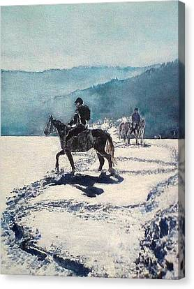 Riders Canvas Print
