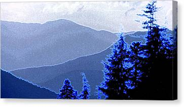 Canvas Print featuring the photograph Ridge Layers 4 Ae by Lyle Crump