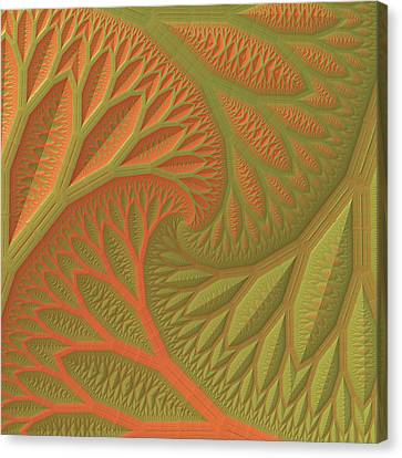 Canvas Print featuring the digital art Ridges And Valleys by Lyle Hatch