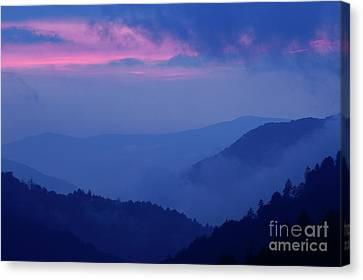 Canvas Print featuring the photograph Ridges - D000023 by Daniel Dempster
