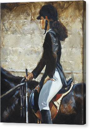 Riding English Canvas Print by Harvie Brown
