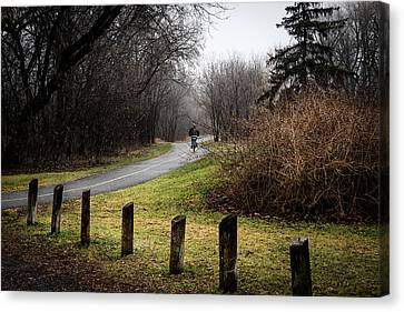 Riding Into The Fog Canvas Print by Celso Bressan