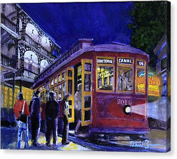 Riding On The City Of New Orleans Canvas Print by David Zimmerman