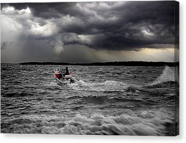 Riding Out The Storm Canvas Print by Steven  Michael