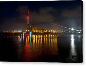 Canvas Print featuring the photograph Riding Station, Tel Aviv, Water Side by Dubi Roman