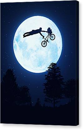 Riding The Kuwahara Bmx Like A Boss Canvas Print by Philipp Rietz