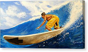 Riding The Wave Canvas Print by Al  Molina