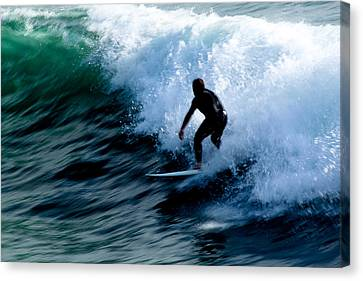 Riding The Waves Canvas Print by Magdalena Green