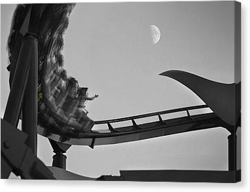 Riding To The Moon Canvas Print by Mike McGlothlen