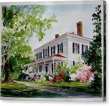 Ried-thurman-wannamaker Home Canvas Print by Gloria Turner
