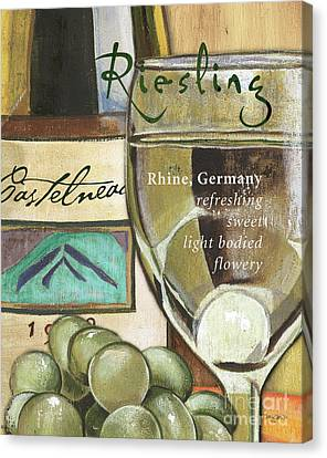 Wine Glasses Canvas Print - Riesling Wine by Debbie DeWitt