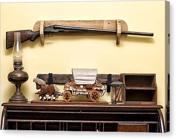Canvas Print featuring the photograph Rifle by Linda Constant