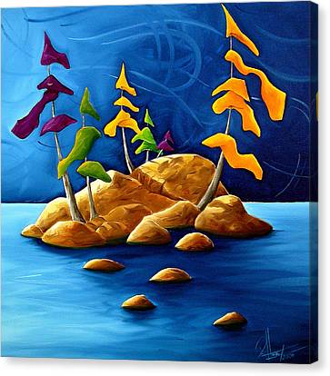 Rift Canvas Print by Richard Hoedl